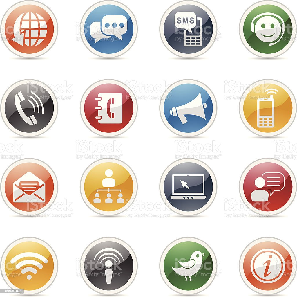 Icons dealing with communication royalty-free stock vector art