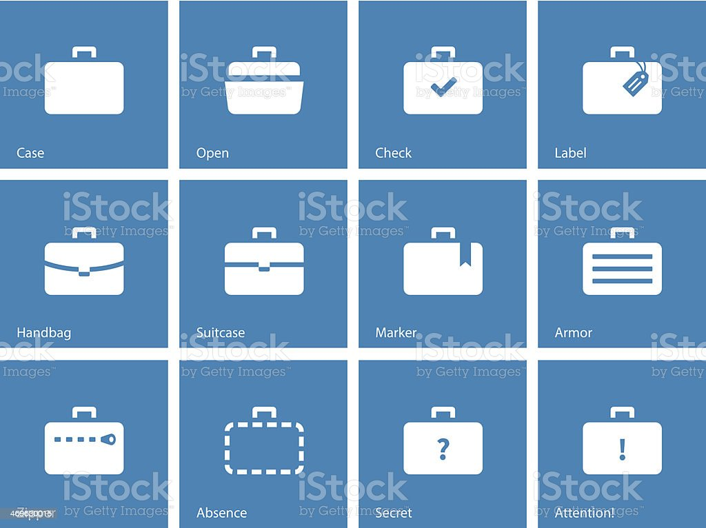 Icons depicting various types of luggage for traveling royalty-free stock vector art
