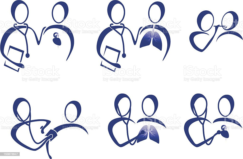 Icons Doctors royalty-free stock vector art