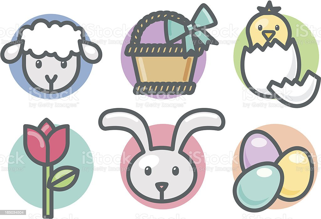 icons: easter royalty-free stock vector art