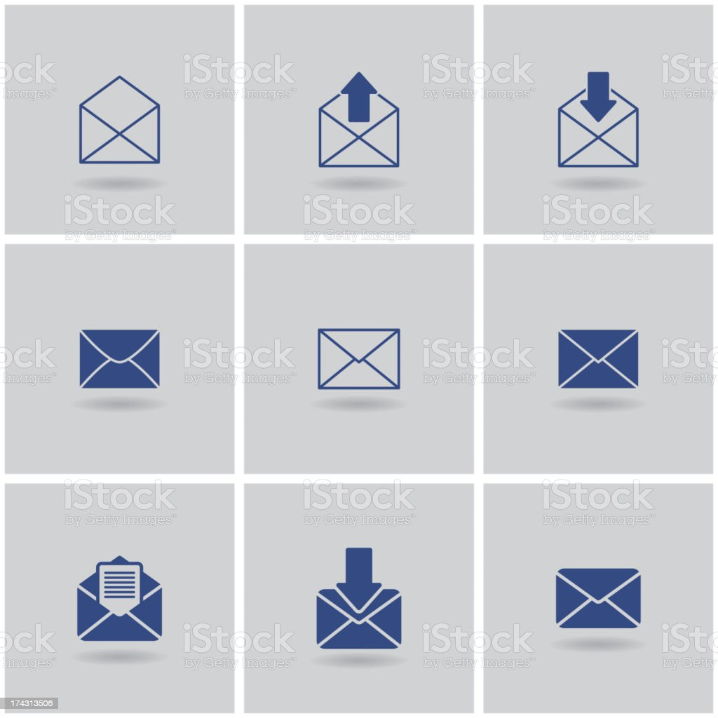 icons envelope royalty-free stock vector art