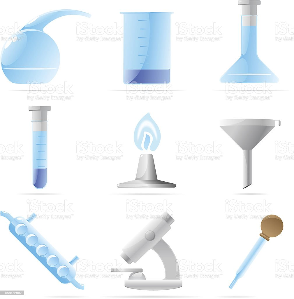 Icons for chemical lab royalty-free stock vector art