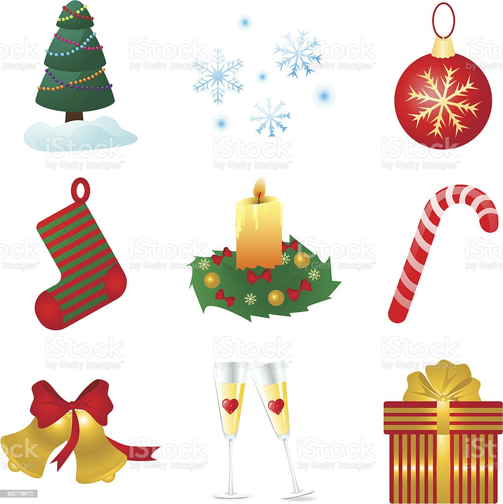 Icons for christmas and new year royalty-free stock vector art