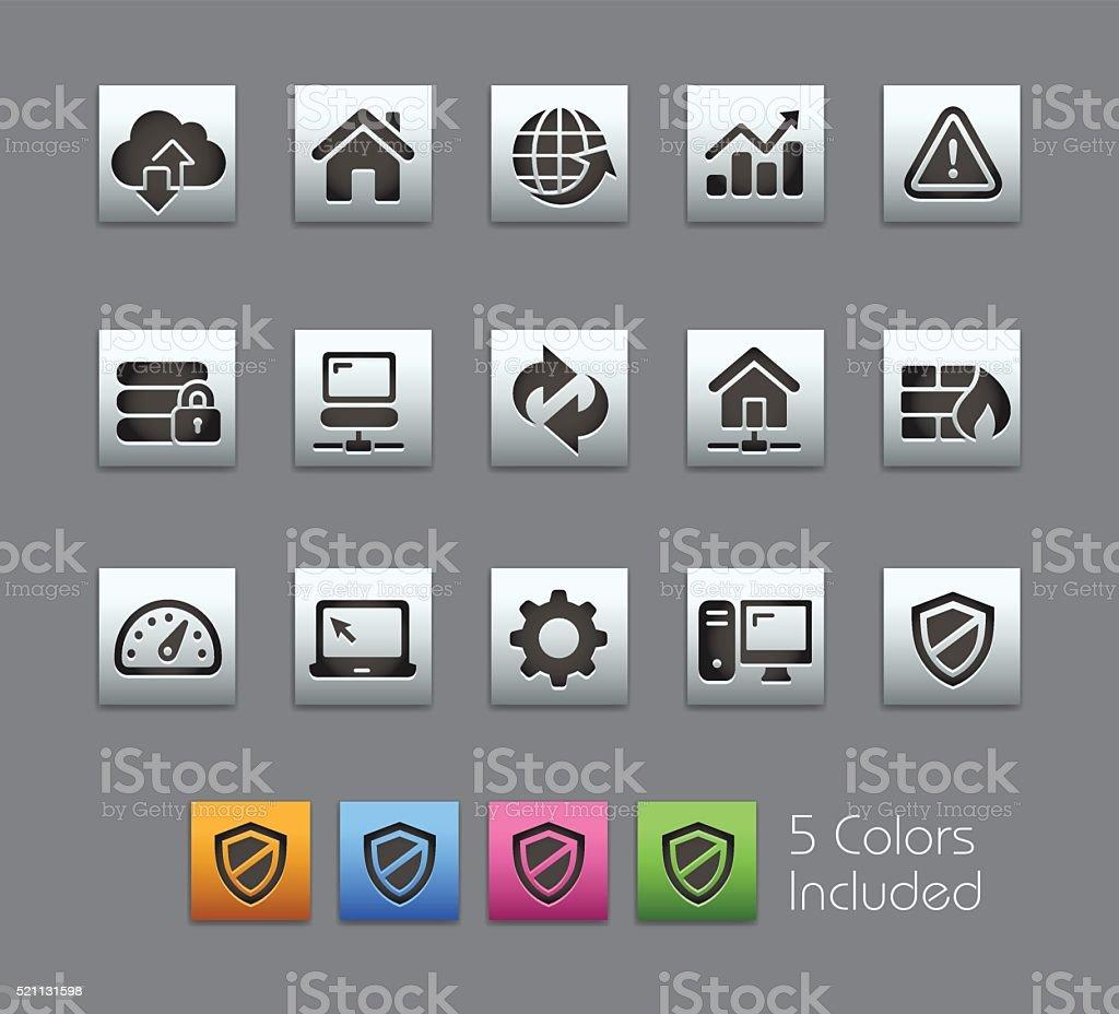 Icons for Developers - Satinbox Series vector art illustration