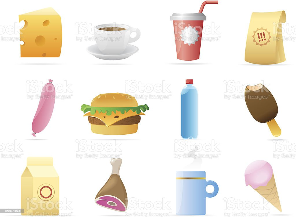 Icons for food royalty-free stock vector art