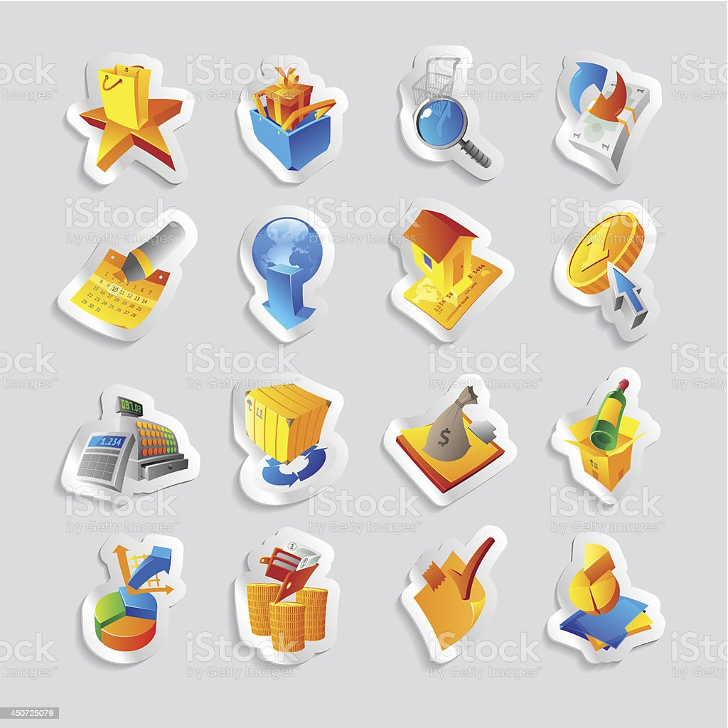 Icons for retail commerce royalty-free stock vector art