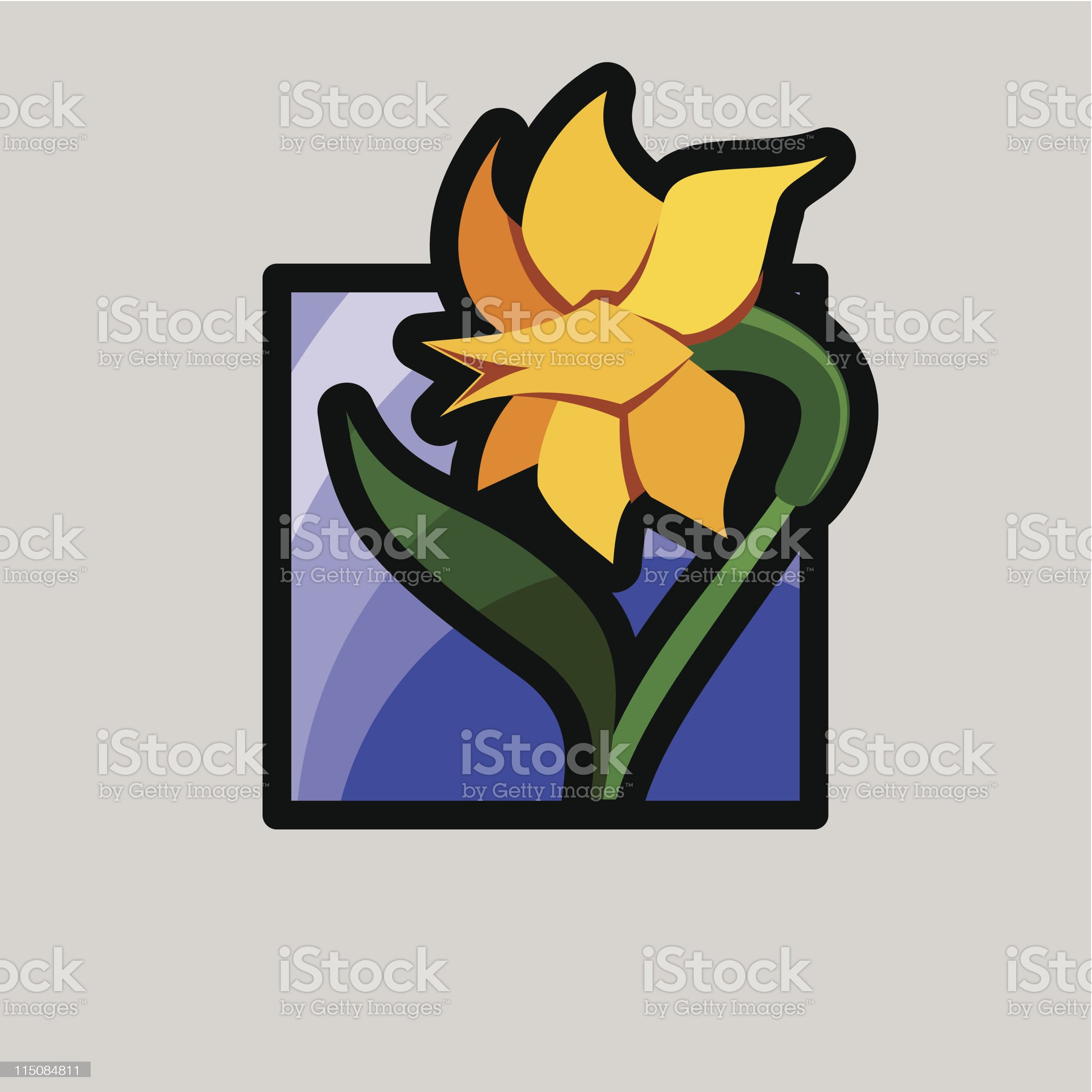 icons for spring - daffodil royalty-free stock vector art