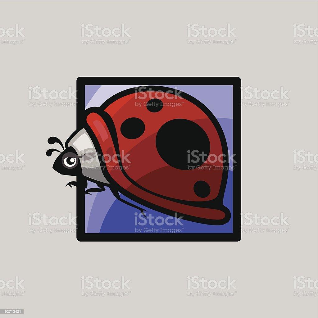 icons for spring - ladybug vector art illustration