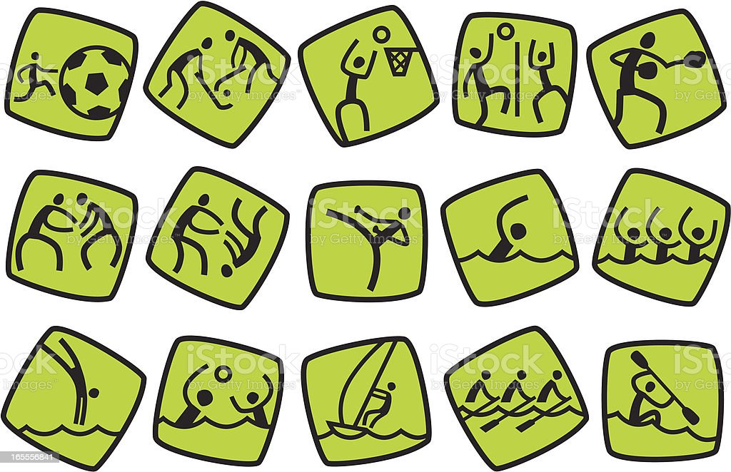 Icons for summer sport games. Part #2 royalty-free stock vector art