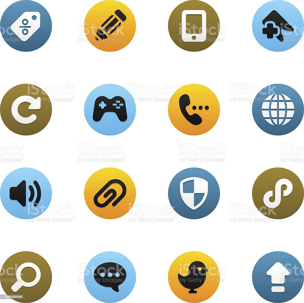 Icons For Web and Mobile royalty-free stock vector art