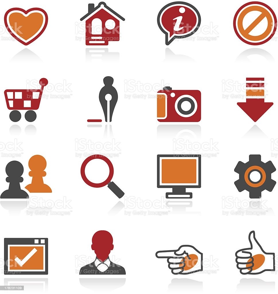 Icons for web. Color series. royalty-free stock vector art