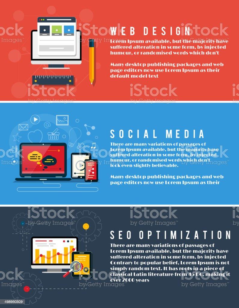 Icons for web design, seo, social media royalty-free stock vector art