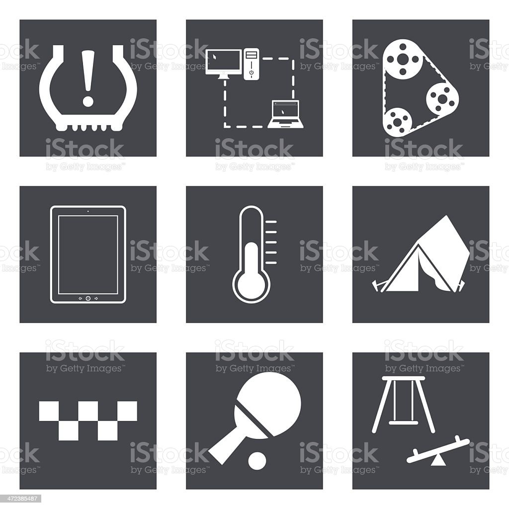 Icons for Web Design set 30 royalty-free stock vector art