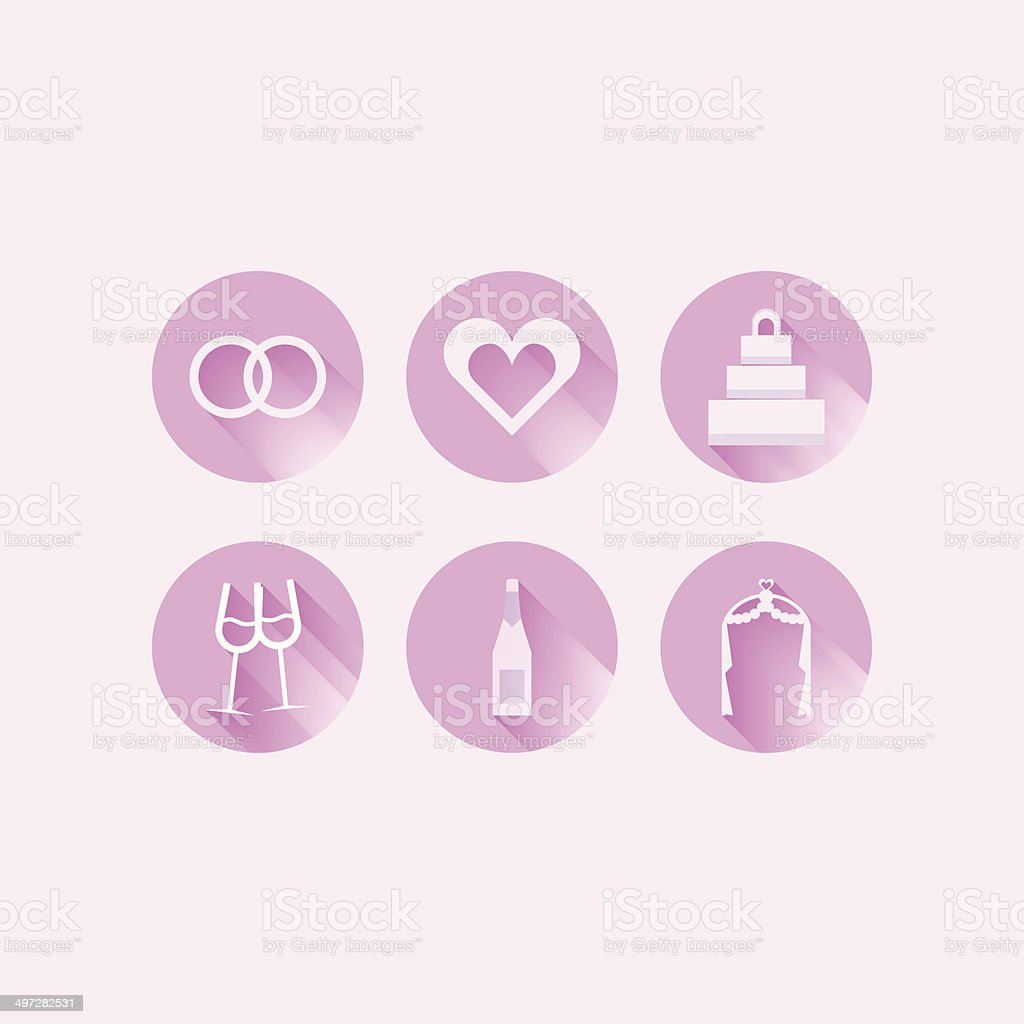 Icons for wedding royalty-free stock vector art