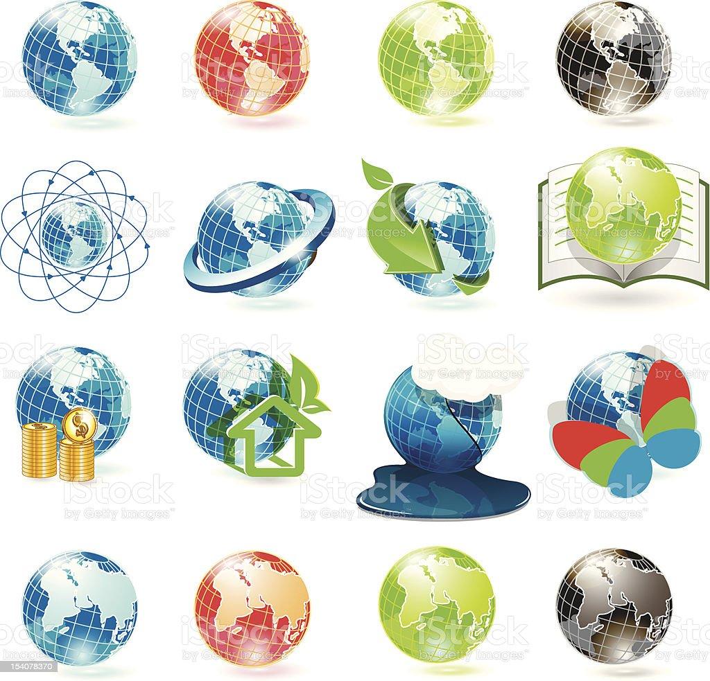 icons globe royalty-free stock vector art