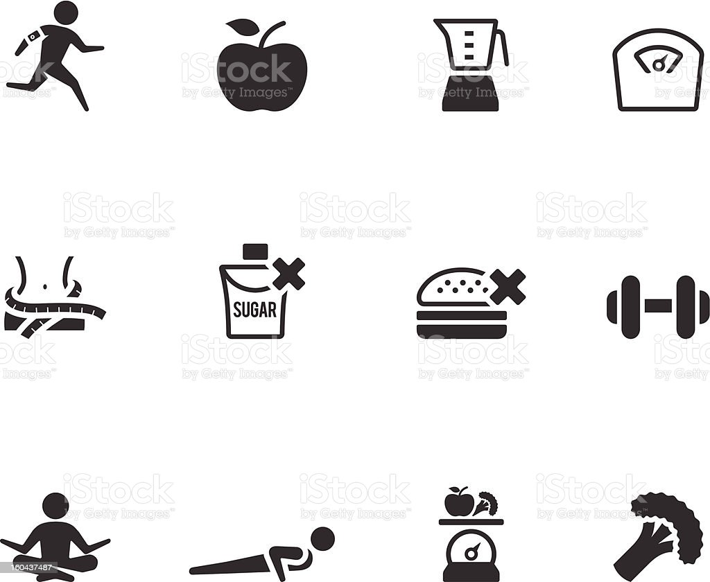 BW  Icons - Healthy Life vector art illustration