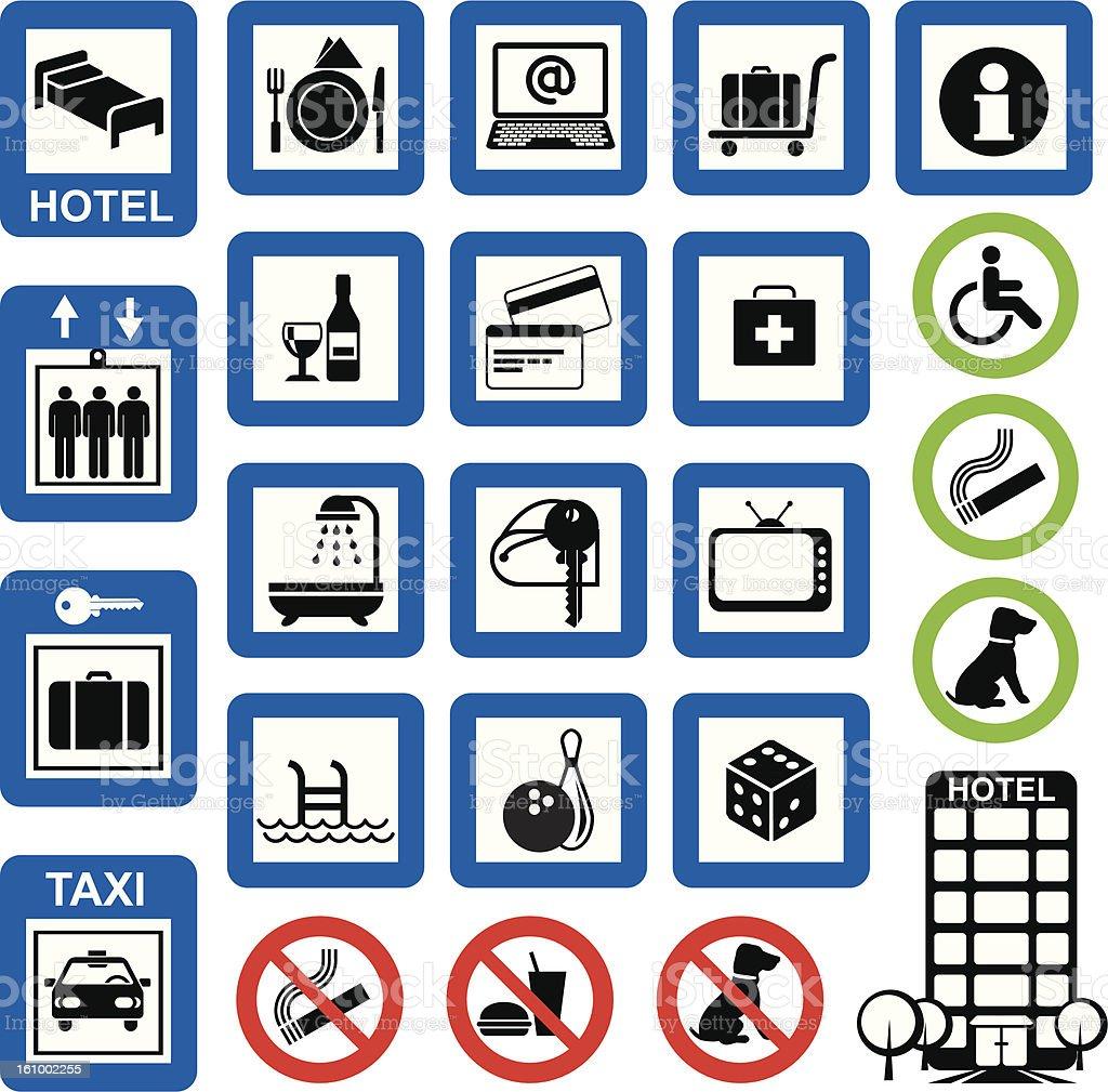 icons hotel stock photo