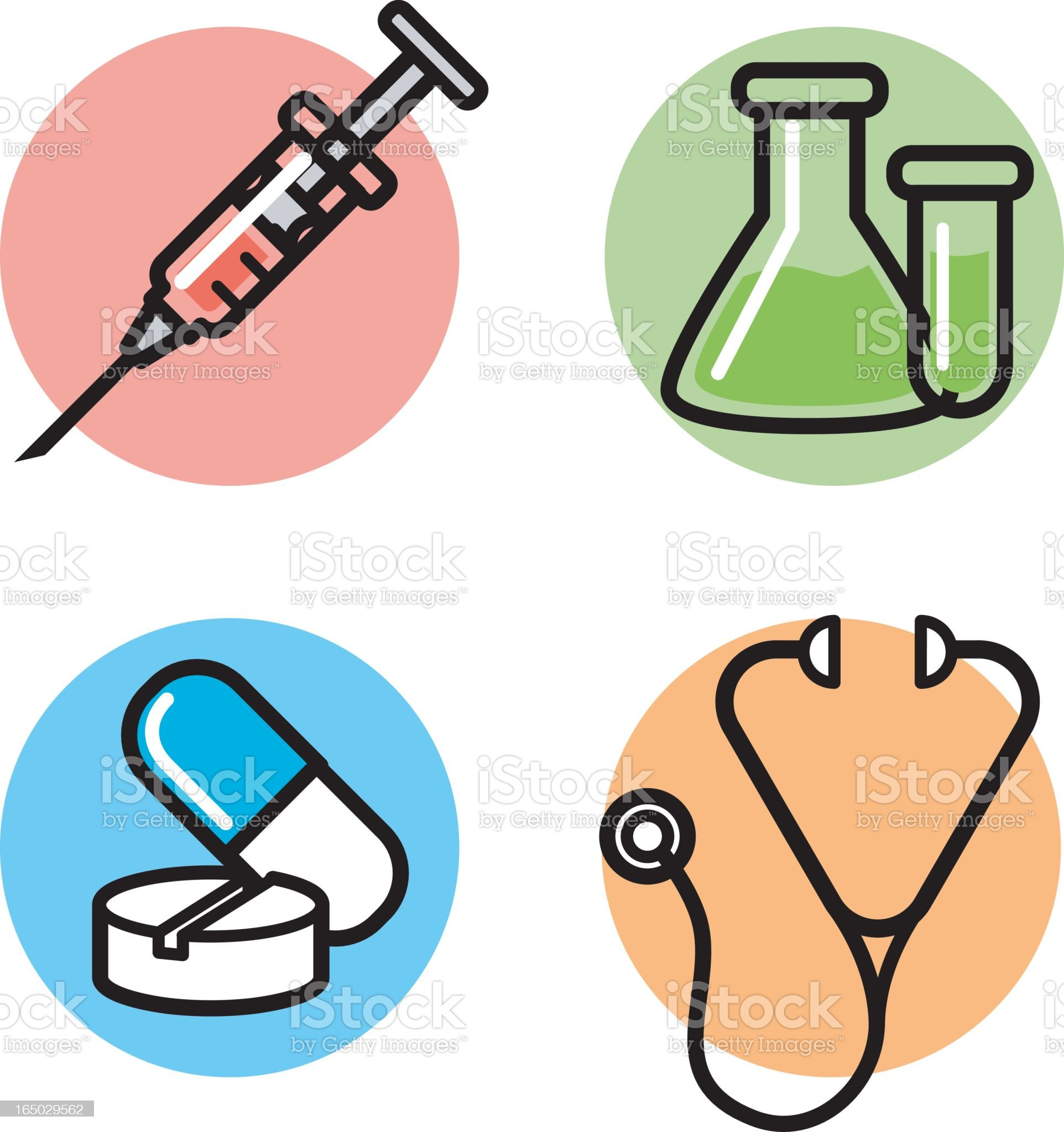 icons: medical royalty-free stock vector art