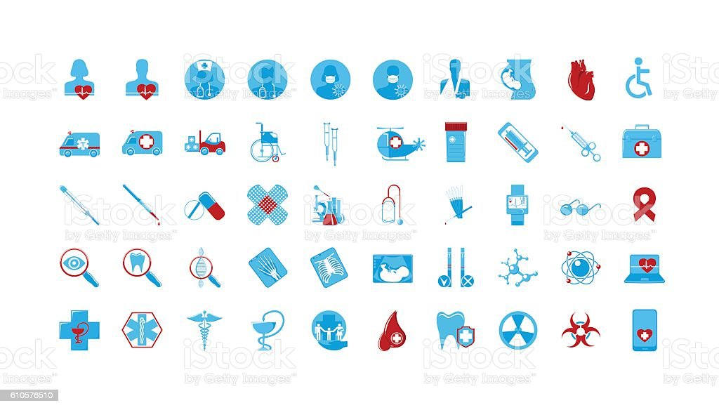icons Medicine vector art illustration
