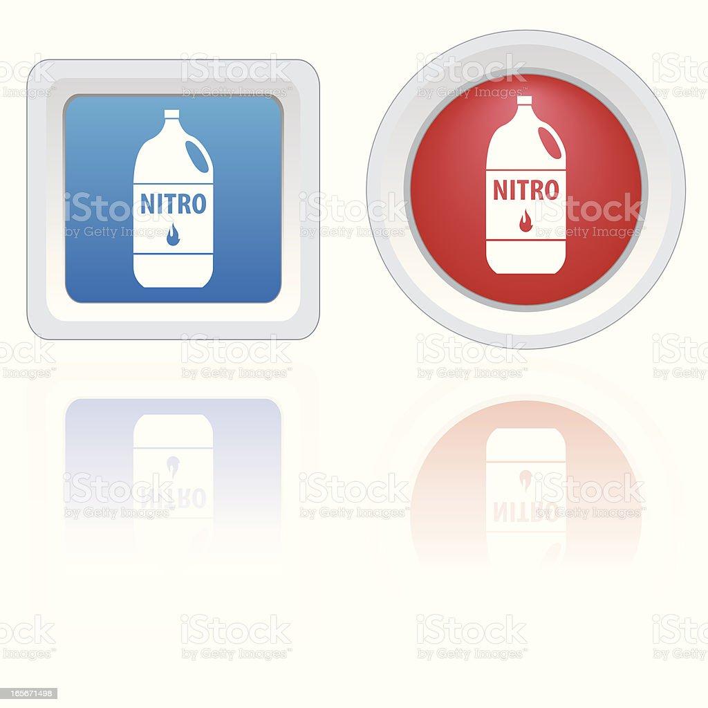 RC Icons - Nitro Fuel royalty-free stock vector art