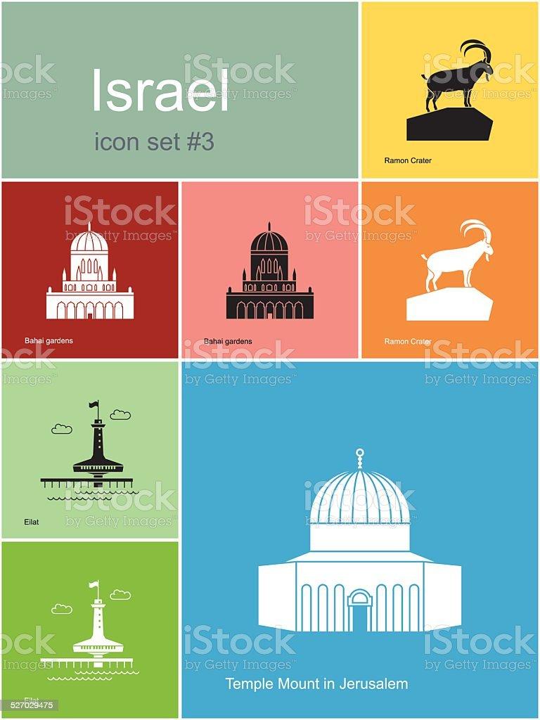 Icons of Israel vector art illustration
