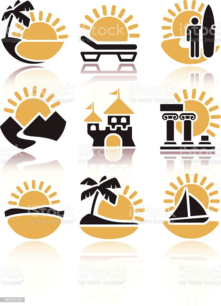 Icons of summer activities royalty-free stock vector art