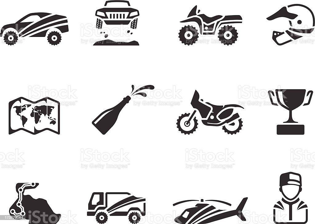 BW Icons - Rally vector art illustration
