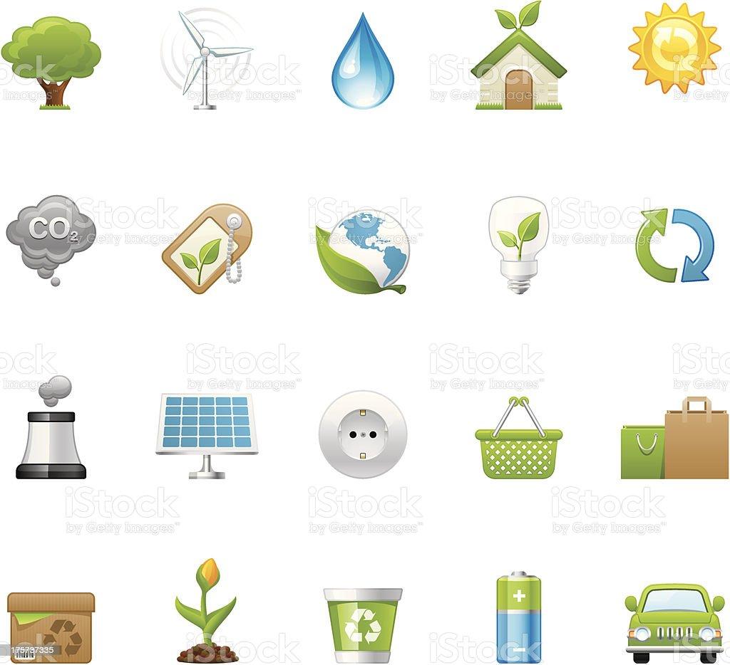 ECO icons | set 1 royalty-free stock vector art