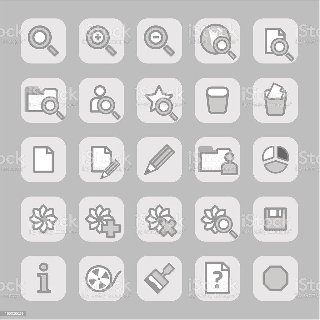 Icons (grey)  - set 3 royalty-free stock vector art