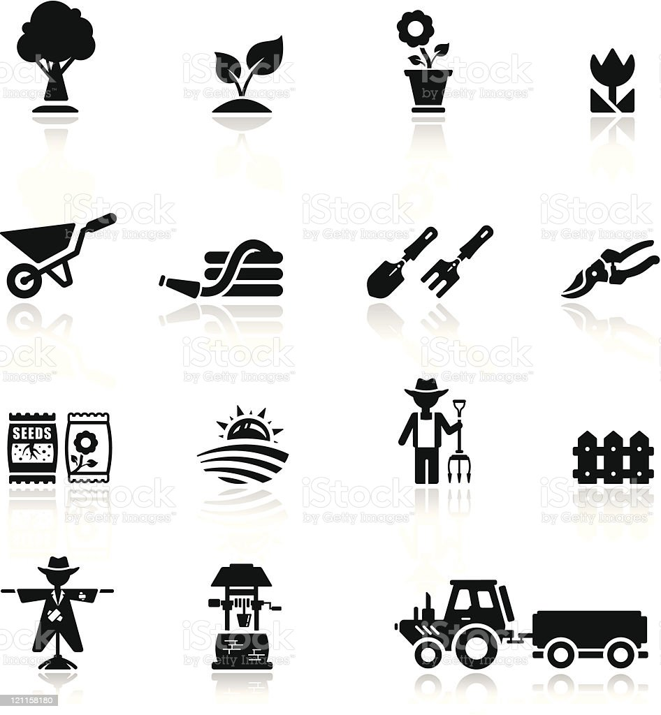 Icons set argiculture and gardening royalty-free stock vector art