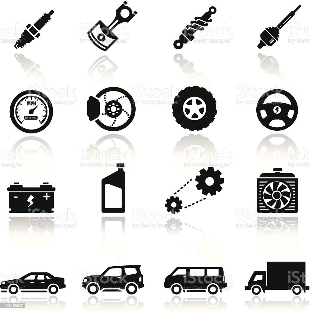 Icons set Auto parts royalty-free stock vector art