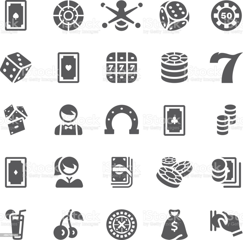 Icons set Casino vector art illustration