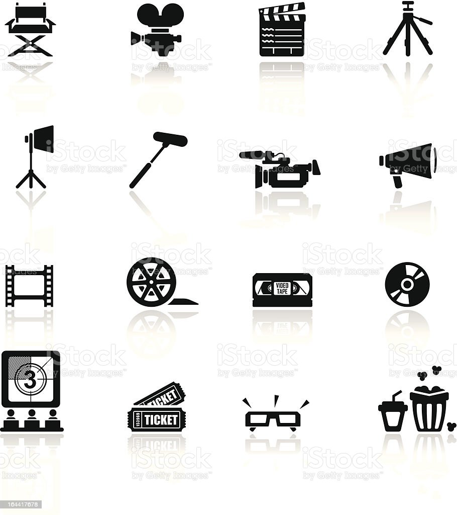 Icons set Cinema and movies vector art illustration