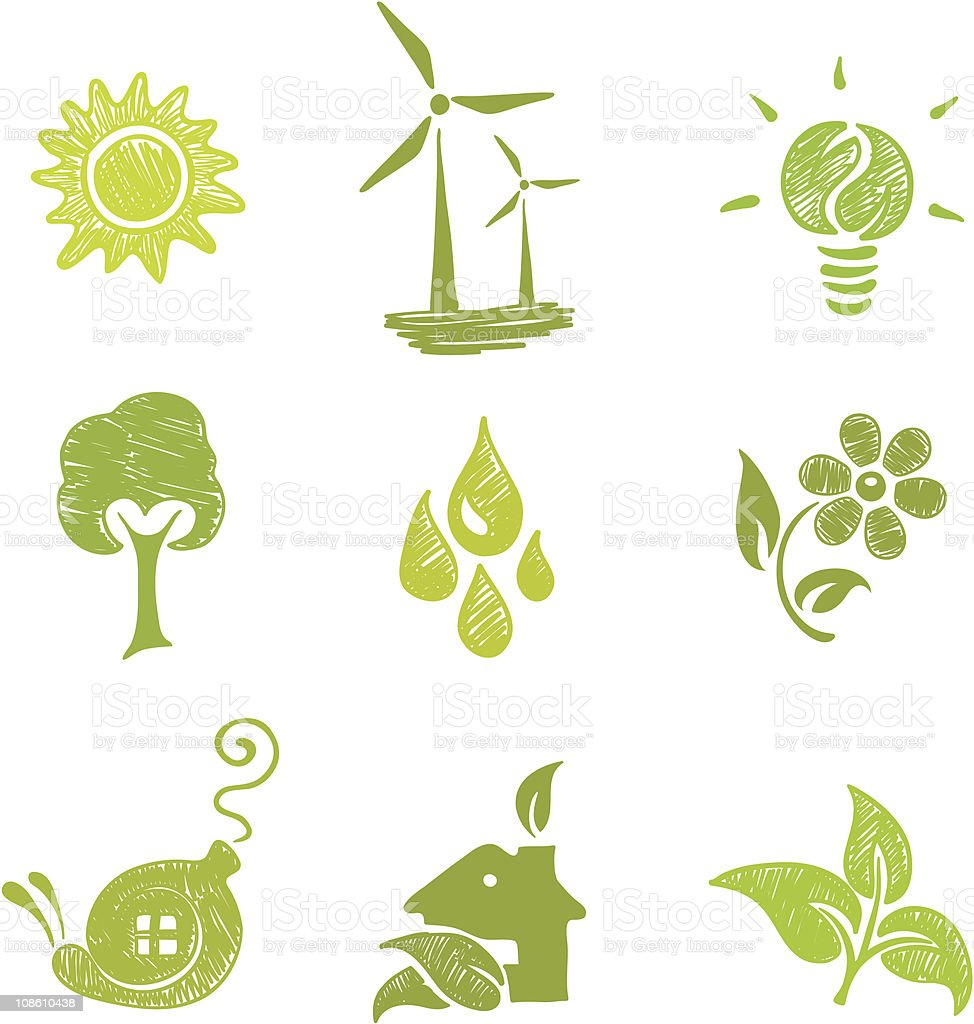 icons set - Ecology royalty-free stock vector art