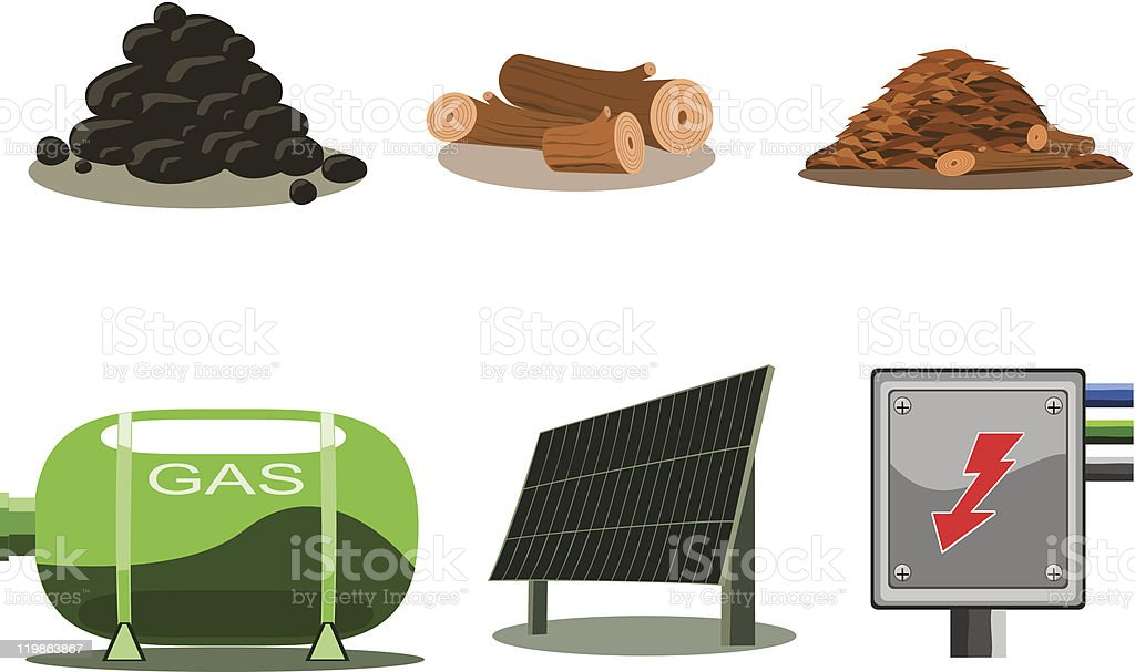 Icons Set - Fuel royalty-free stock vector art