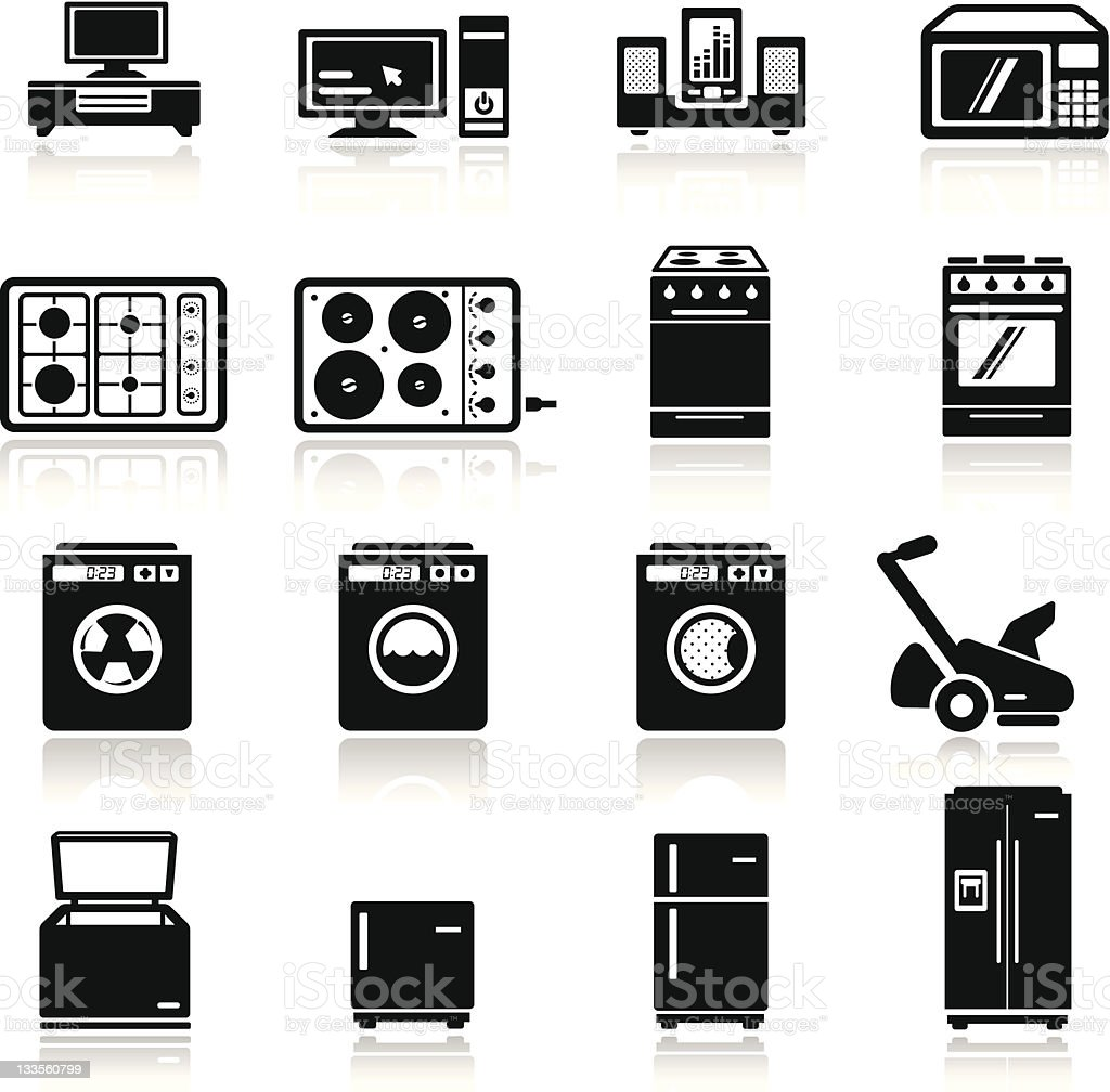 icons set home devices vector art illustration