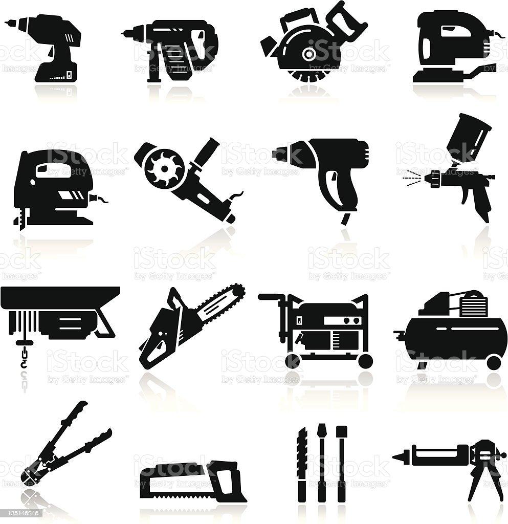 Icons set Industrial Tools vector art illustration