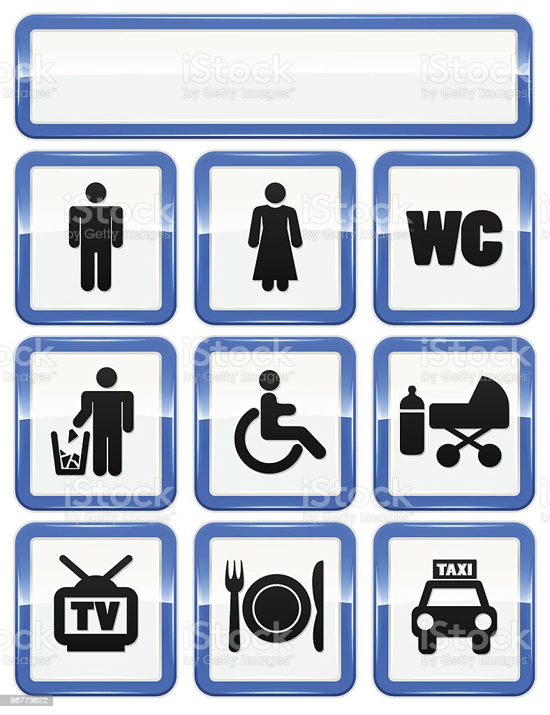 icons set of service signs royalty-free stock vector art