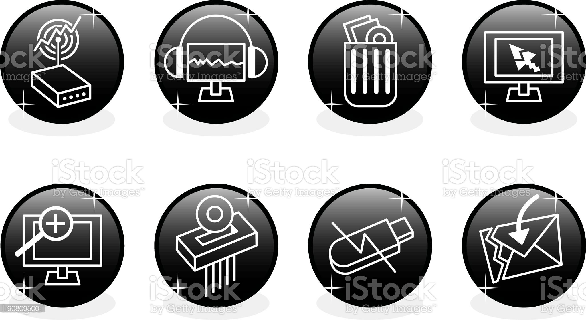 Icons set - security royalty-free stock vector art