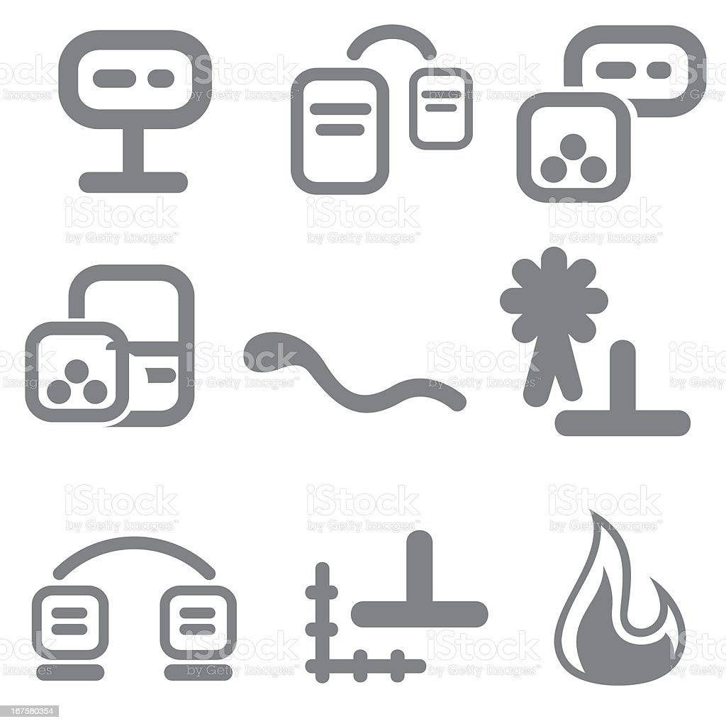 Icons Set Series royalty-free stock vector art