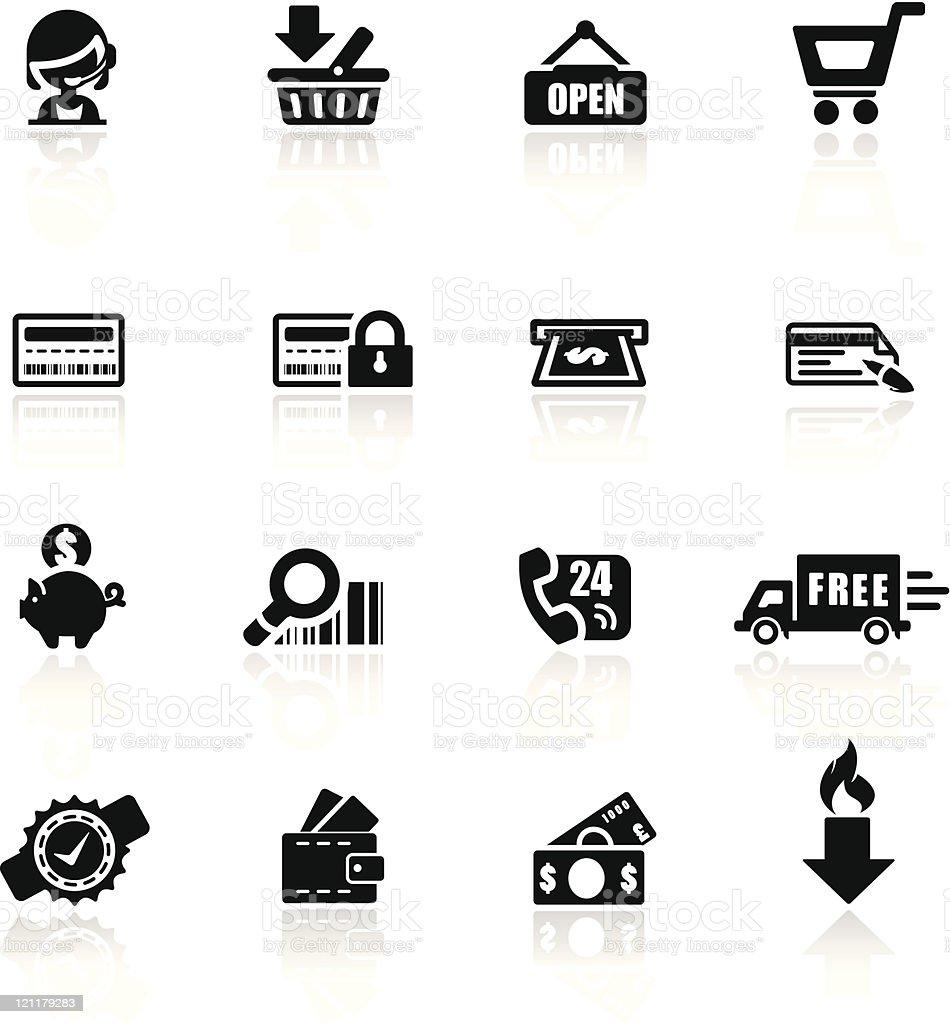 Icons set Shopping royalty-free stock vector art