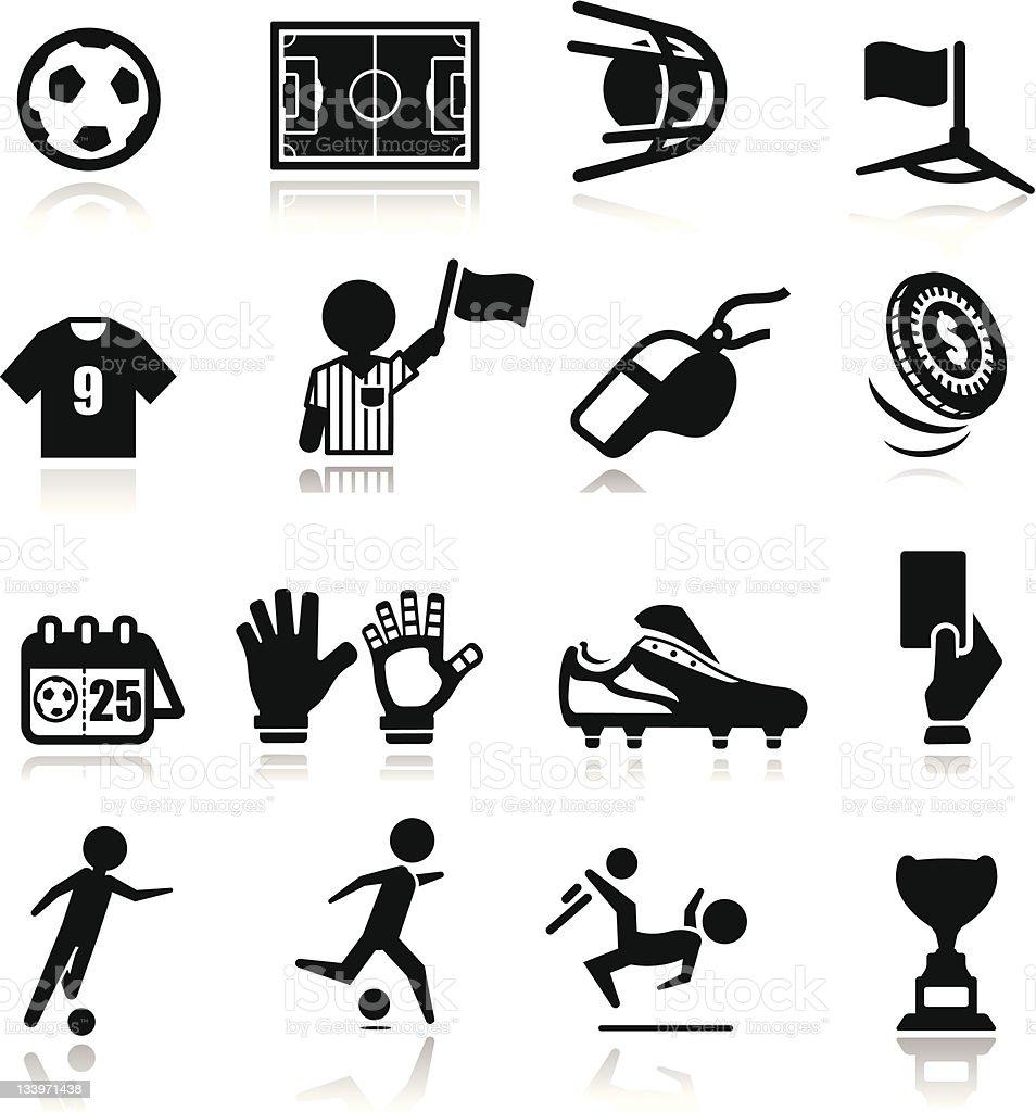 Icons set Soccer vector art illustration