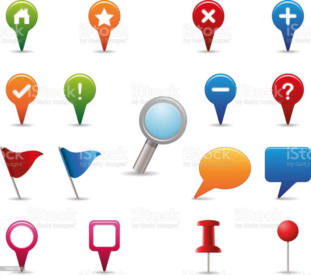 GPS Icons Set. vector art illustration