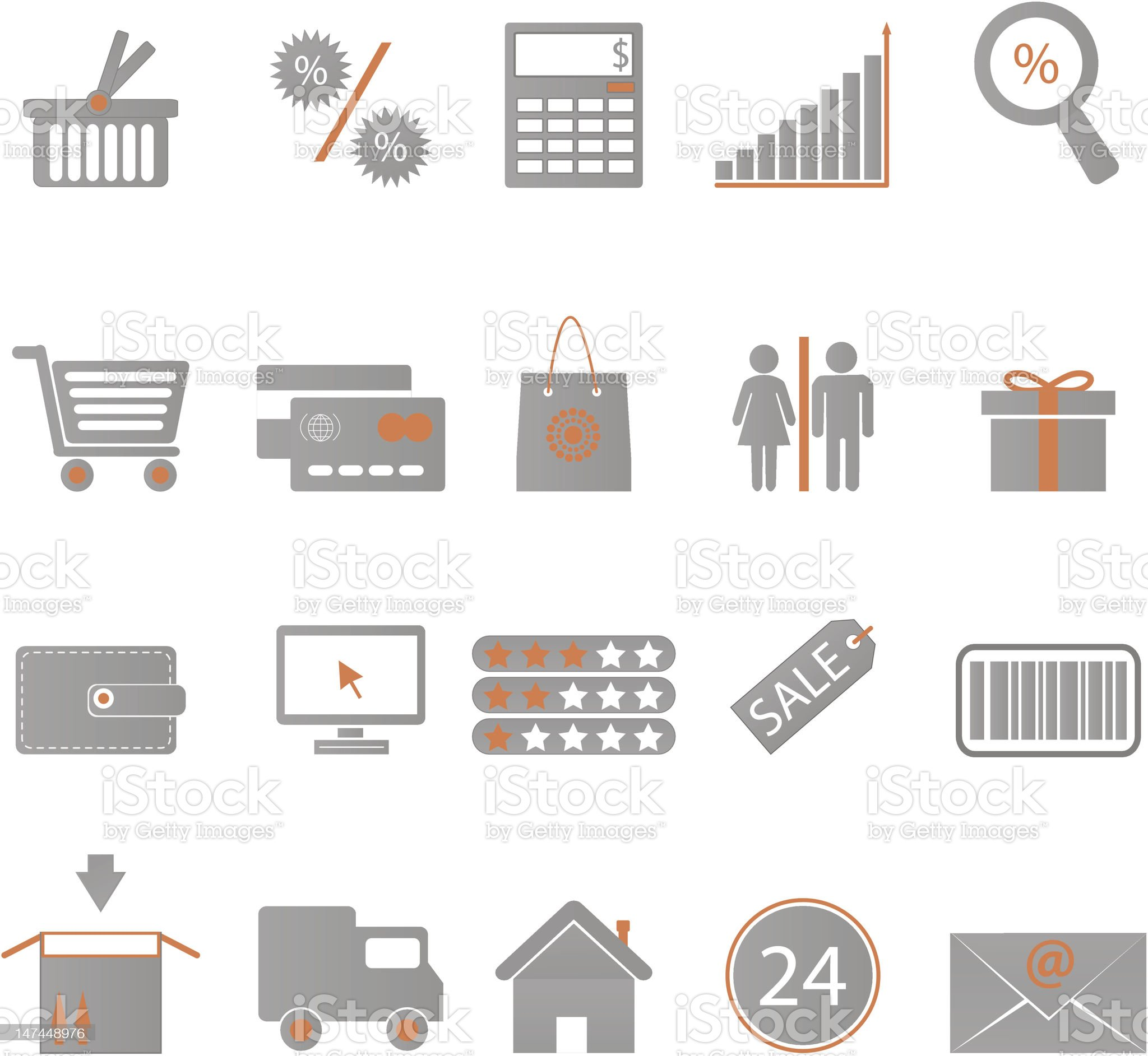 Icons Shopping royalty-free stock vector art