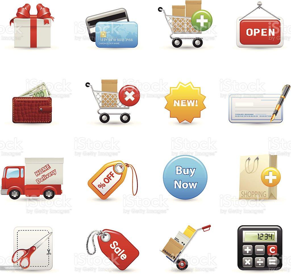 Icons - Shopping vector art illustration