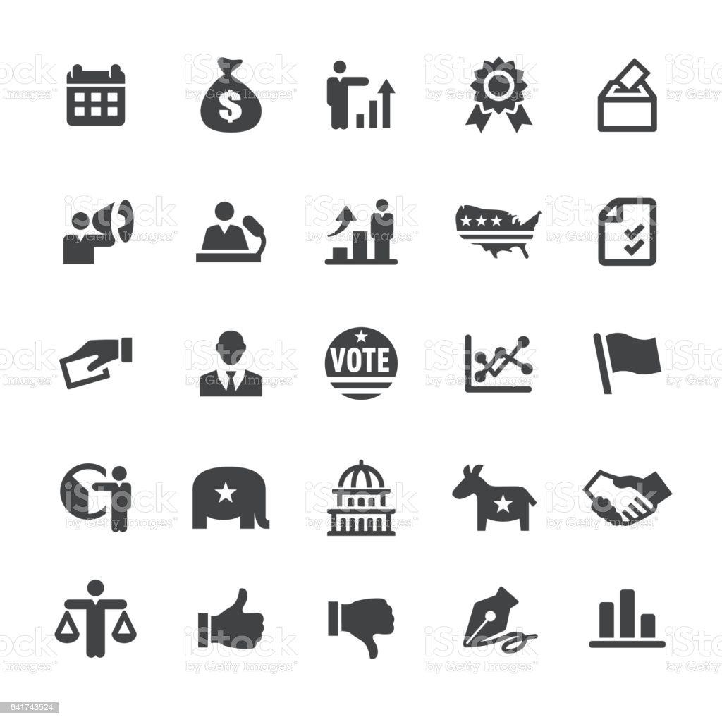 USA Icons - Smart Series vector art illustration