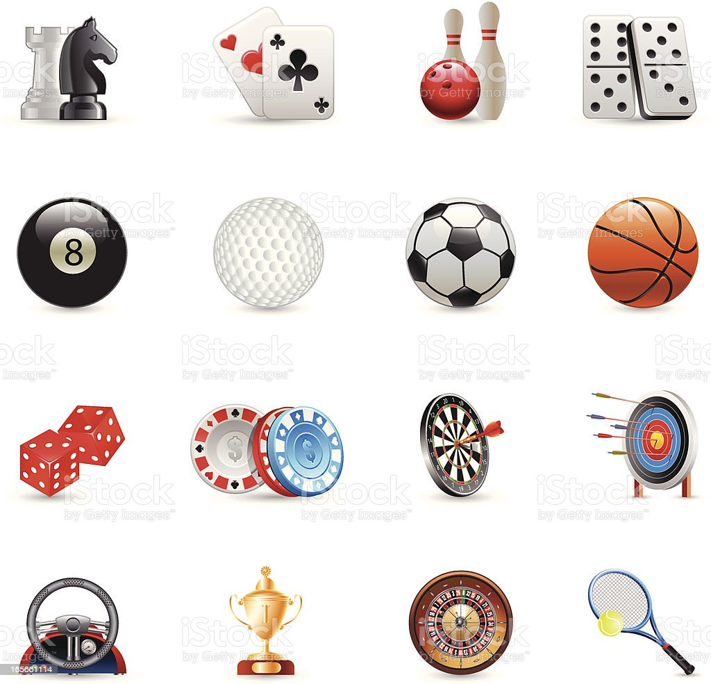 Icons - Sport and Leisure royalty-free stock vector art