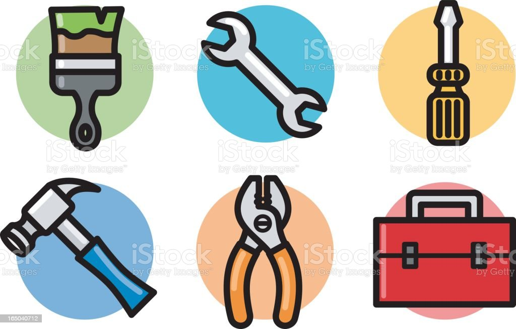 icons: tools royalty-free stock vector art