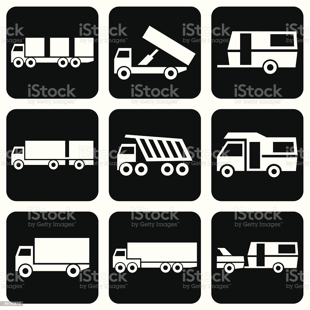 icons transport royalty-free stock vector art