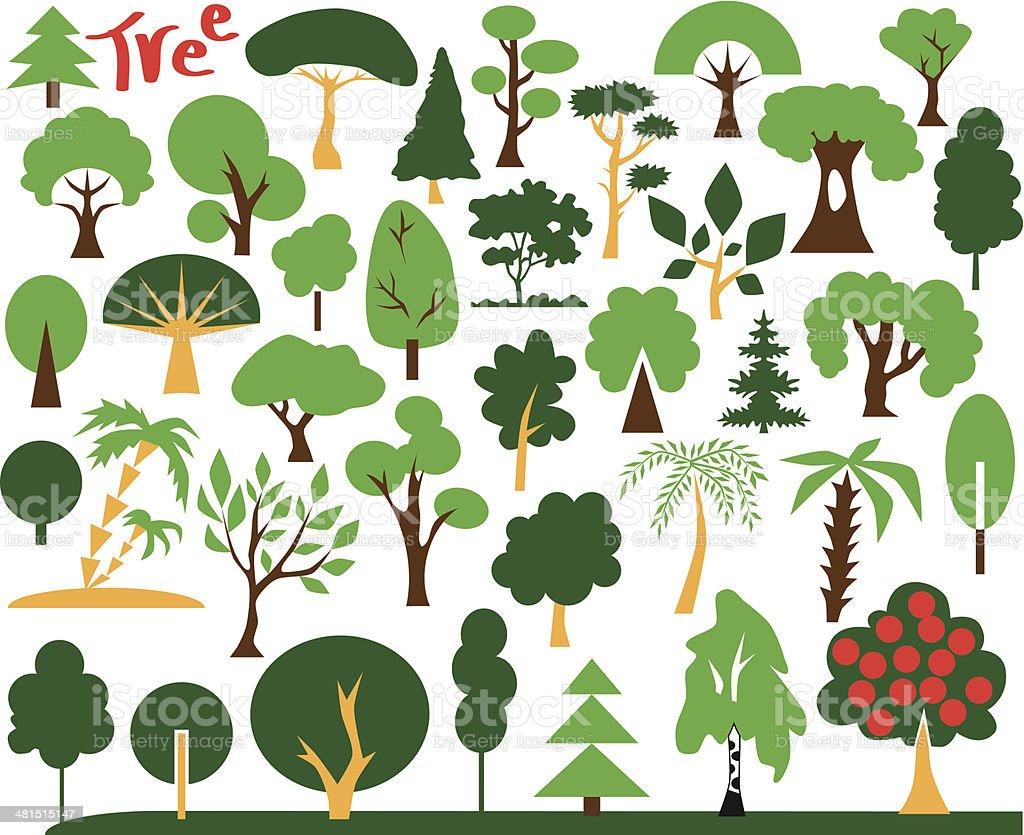 icons tree royalty-free stock vector art